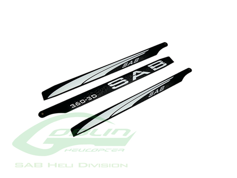 Black Line Carbon Fiber Main Blades 360mm - Goblin 380 KSE