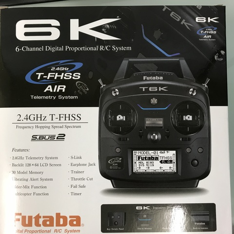 FUTABA 6K RACING DRONE T/Rセット R2001SB2個付 モード2