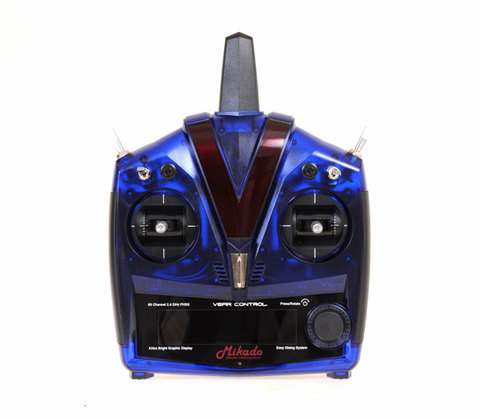 VBar Control Radio, blue with RX-satellite, transparent