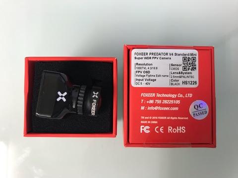 FOXEER PREDATOR V4 Standard/Mini 2.5mm BLACK