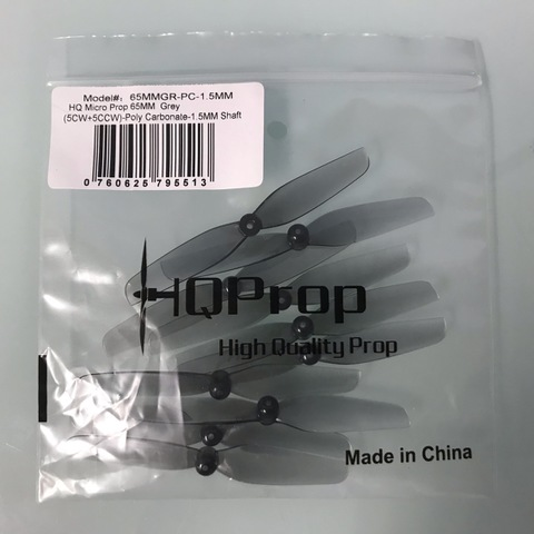 HQ Micro Prop 65MM Grey 1.5MM Shaft