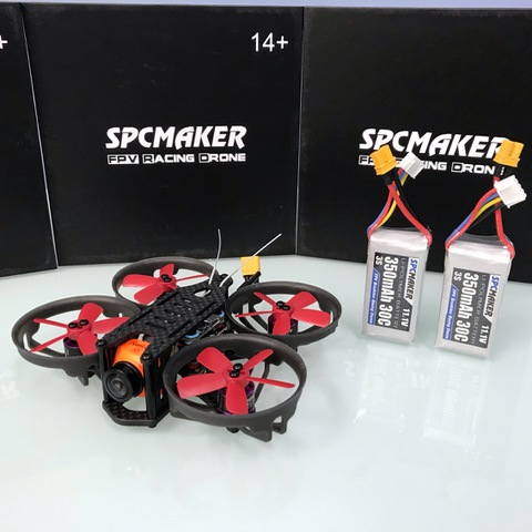 SPCMAKER K19 90MM Brushless FPV Racing Drone PNP BNF Version Omnibus F4 flight controller 20A Mini 4 in 1 BLheli_s ESC (2-4S LiPo) RunCam