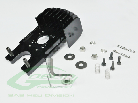 H0316-S Aluminum Cooling Motor Mount With Third Bearing-Goblin630/700/770