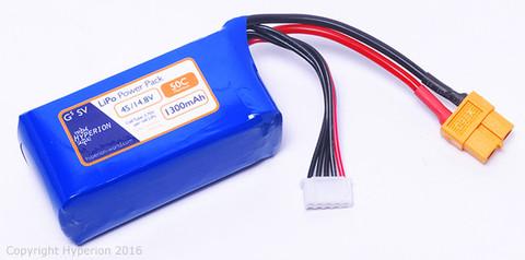 G5 50Cmax 4S 1300mAh 4.2V-Max LiPo