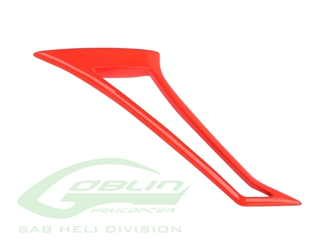 Composite Tail Fin Red - Goblin Urukay Carbon [H0823-S]