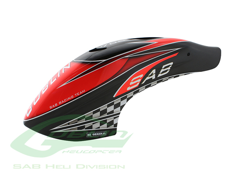 Canomod Airbrush Canopy SAB Red/Carbon - Goblin 700 Competition [H9030-S]