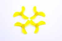 NewBeeDrone Colored Azi Micro Props - 1.0mm Shaft (Set of 4) Yellow