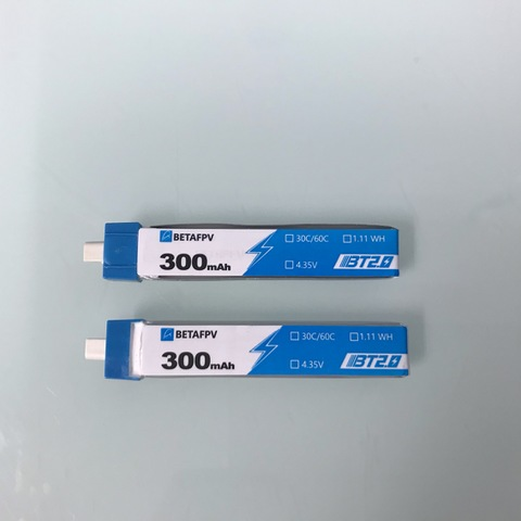 BETAFPV BT2.0 300mAh 1S 30C Battery 2個