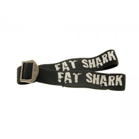 Replacement black Fat Shark Logo head strap