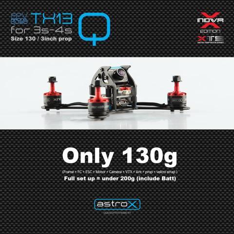 AstroX TX13Q /Xnova アンダ-200g 日本限定コンボ仕様  双葉受信機 TATTU450mAh3Sリポ2個 セット