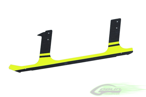 Low Profile Carbon Fiber landing gear - Goblin Competition 630/700/770 - Yellow (1pc) [H0106-S]