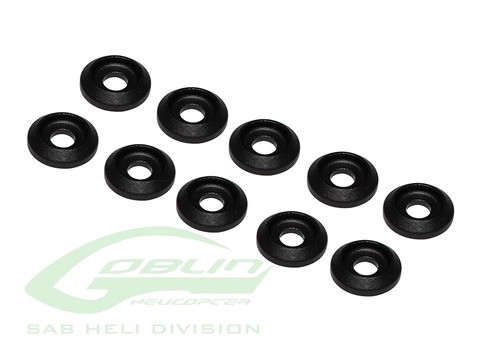 Aluminum Finishing Washers Black Matte (10pcs) [H0007BM-S]