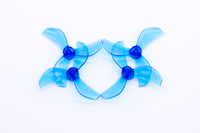 NewBeeDrone Colored Azi Micro Props - 1.0mm Shaft (Set of 4) Blue