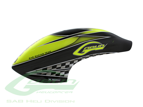 Canomod Airbrush Canopy SAB Yellow/Carbon - Goblin 770 Competition [H9047-S]