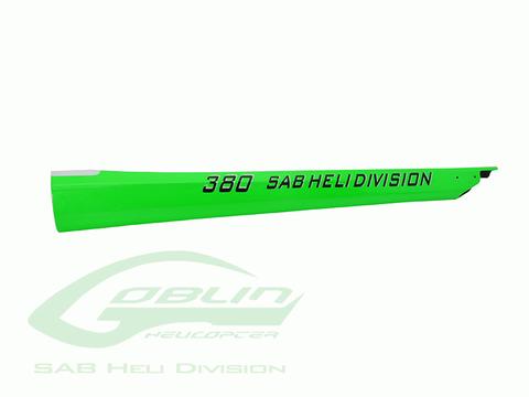 Carbon Fiber Tail Boom Green - Goblin 380 H0588-S