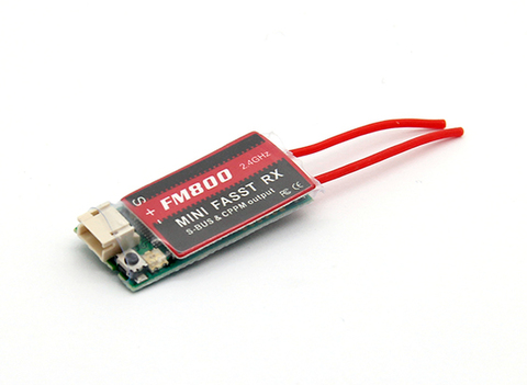 FM800 Super Mini FASST Compatible 8ch Receiver with SBUS/CPPM