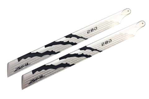 ZEAL Energy Silver Carbon Main Blades 280mm (Neon Black)