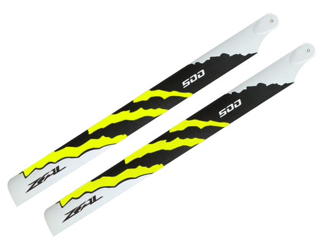ZEAL Energy Carbon Fiber Main Blades 500mm (Yellow)