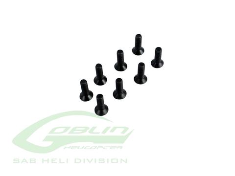HC135-S - Flat Head Cap Screw M3x10mm (8pcs)