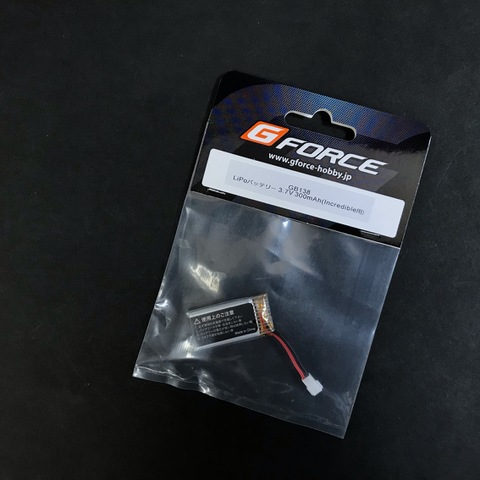 G FORCE INCREDIBLE LIPO バッテリ-3.7V300mAh GB138