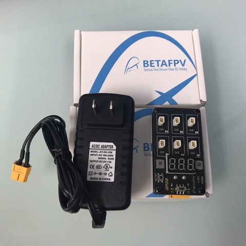 BETAFPV BT2.0 1S battery charger boad XT60アダプターセット