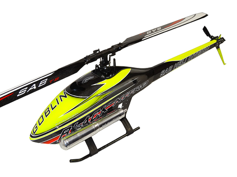 SG713 - GOBLIN BLACK NITRO 700 YELLOW/CARBON (With ThunderBolt Main And Tail Blades)