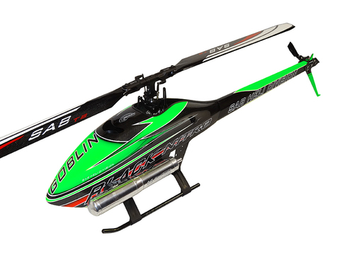 SG711 - GOBLIN BLACK NITRO 700 GREEN/CARBON (With ThunderBolt Main And Tail Blades
