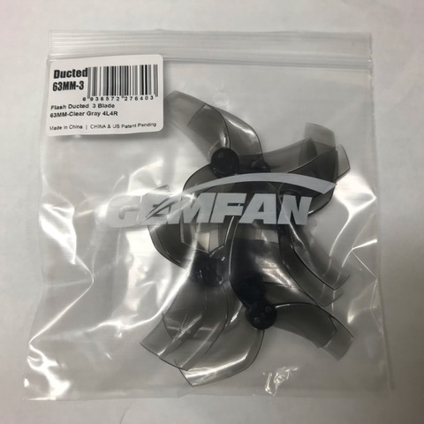 GEMFAN D63 Ducted Durable 3 Blade 63mm -Clear Black