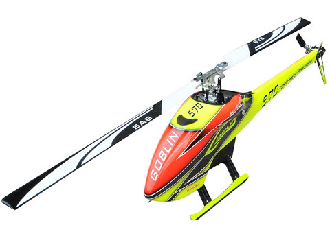 GOBLIN 570 YELLOW/ORANGE (with blade and tail blade) [SG570]