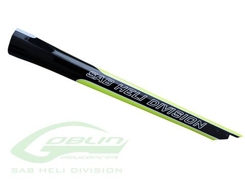 H0815-S - Carbon Fiber Tail Boom Yellow/Black - Goblin 420 Sport