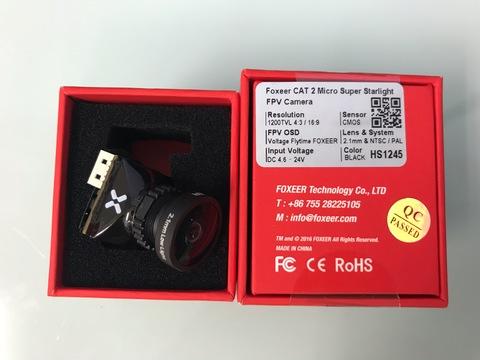 FOXEER CAT 2 Micro Super Starlight 2.1mm BLACK