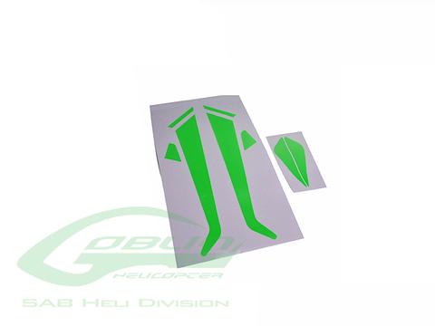 H0589-S - Landing Gear and Fin Green Sticker - Goblin 380