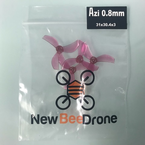 NewBeeDrone Colored Azi Micro Props -3 blade 0.8mm Shaft (Set of 4) Pink