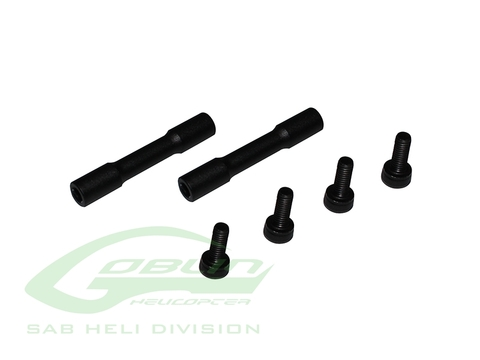 Aluminum Tail Case Spacer Black Matte - Goblin 630/700/770 Competition [H0061BM-S]