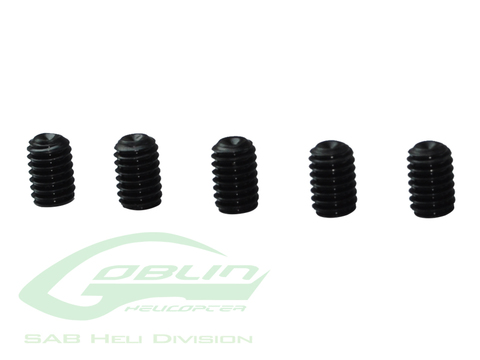 HC153-S - DIN 12.9 Cup Point Set Screws M4 x 6 (5pcs) - Goblin 770/Goblin 630/700 Competition