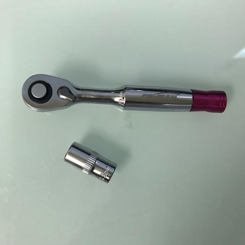 "GEMFAN Ratchet Screwdriver Socket Wrench 8MM 1/4"""