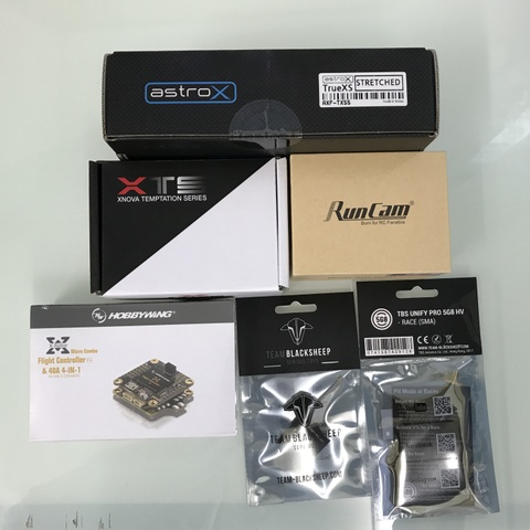AstroX TrueXS STRETCHED With Gコンボ 07-26 カメラ&VTX TBS VTX