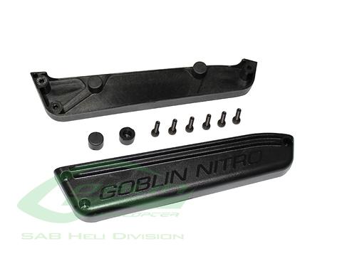 H0686-S - Plastic Fuel Tank Support Black - Goblin Black Nitro