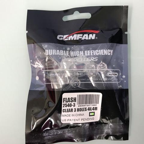 GEMFAN FLASH 2540-3  CLEAR  3HOLES