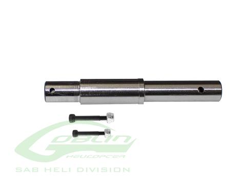 H0765-S - Steel Secondary Shaft - Goblin Black Nitro 650/700