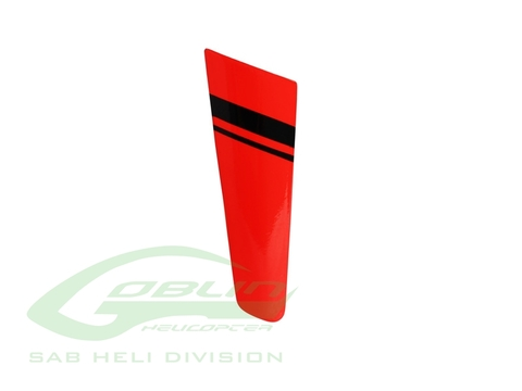 H0923-S - MiniComet Tail Fin Red