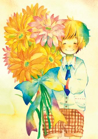 ポストカード【特大の花束を】