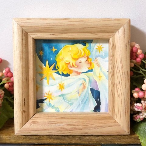 【ミニ複製イラスト】星飾りの部屋