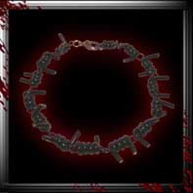 有刺鉄線ブレスレッド/ブラック