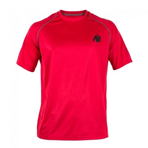 パフォーマンスTシャツ レッド/ブラック