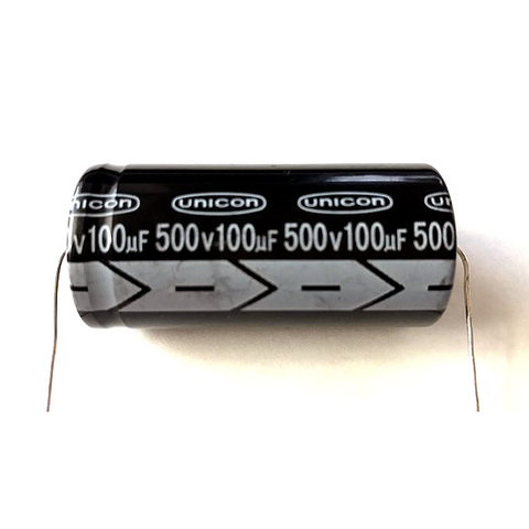 チューブラコンデンサー500V/100uF(unicon)