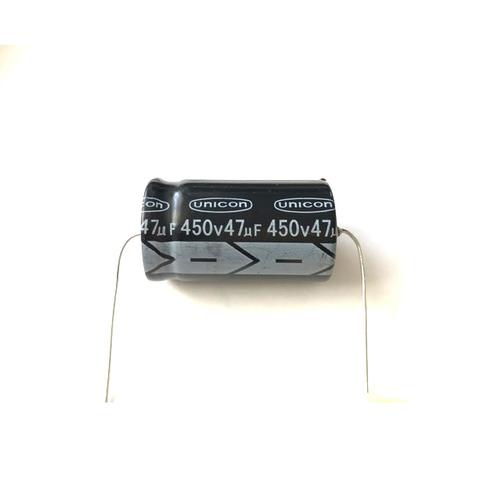 チューブラコンデンサー450V/47uF(unicon)