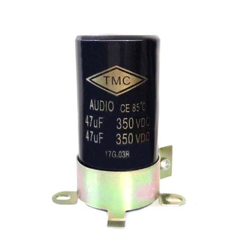 新品・電解コンデンサー350V/47uFX2(金具付)