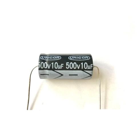 新品チューブラコンデンサー500V/10uF(UNICON)