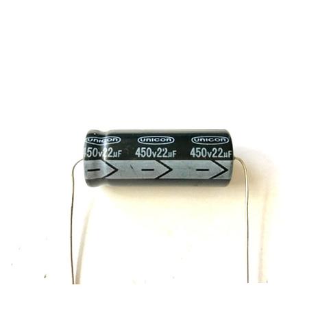 チューブラコンデンサー450V/22uF(UNICON)